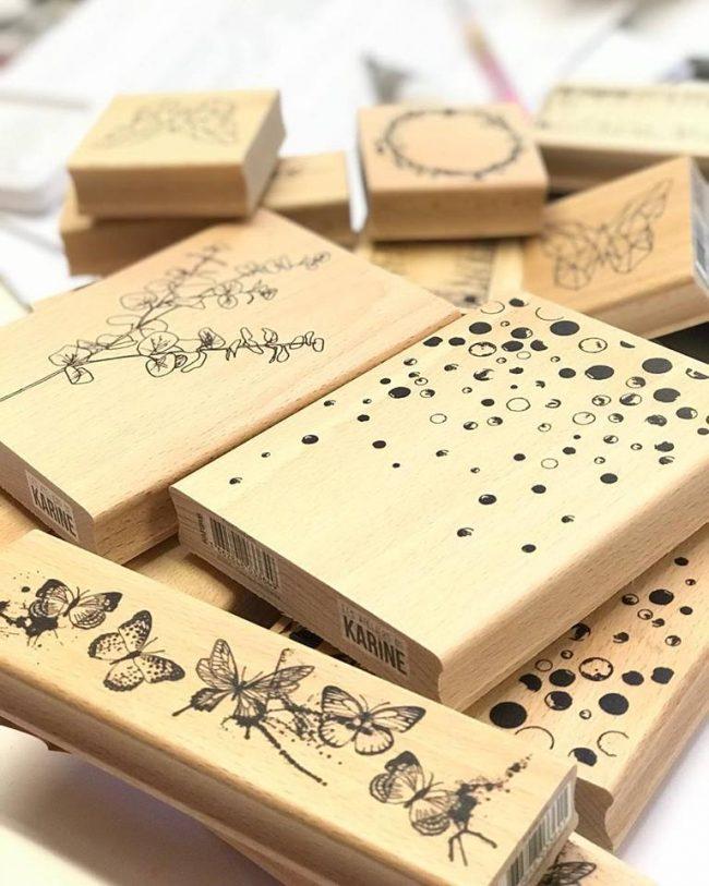 Sellos de madera para scrapbooking