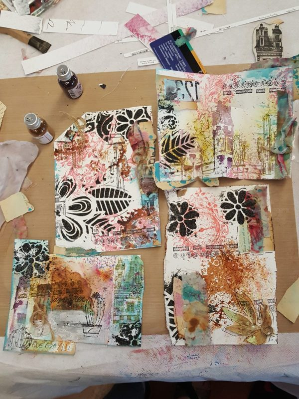 juego de scrap y mixed media en maraki
