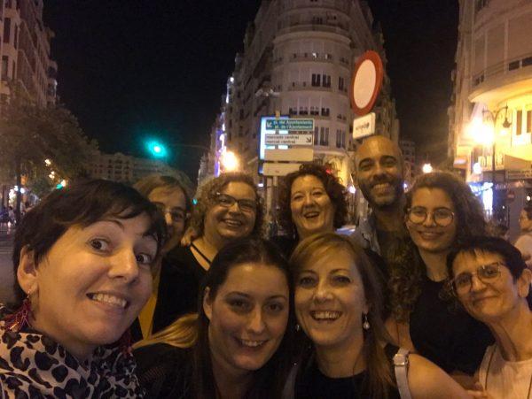 selfie con amigas en maraki valencia