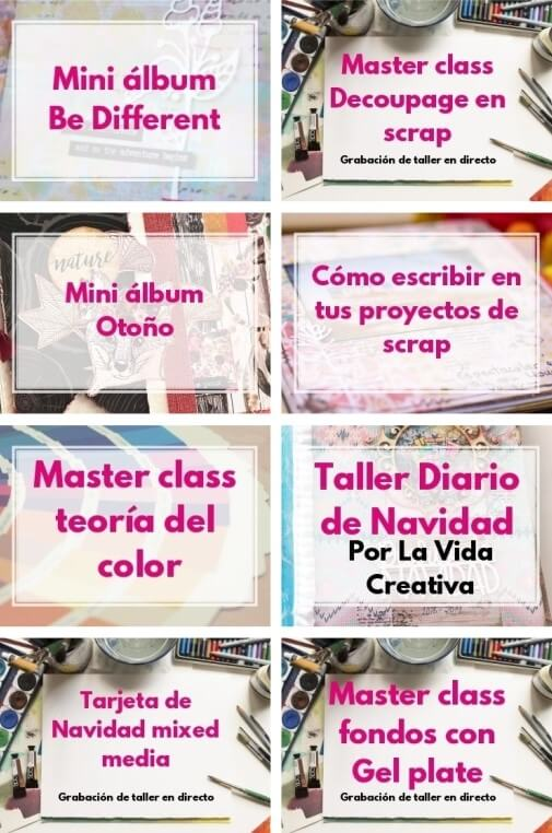 catalogo de talleres de mix media